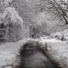 Parish Lane, Pease Pottage, under snow