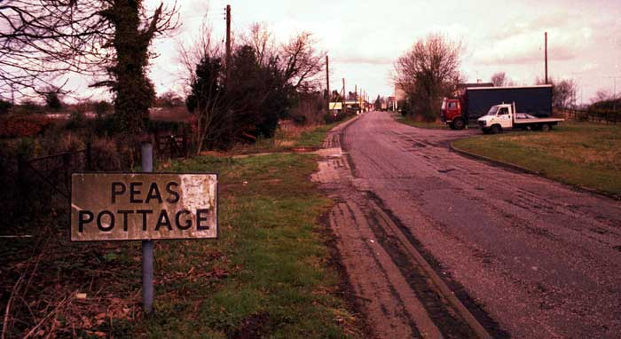 Peas Pottage sign
