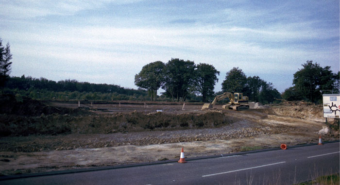service station being built