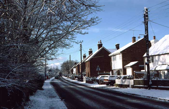 Horsham Road in winter