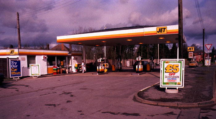 jet station late 1980s pease pottage