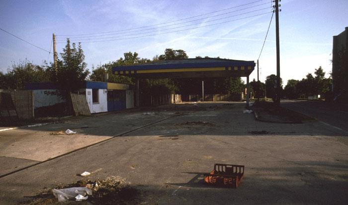 Jet garage, deserted
