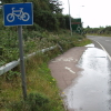 the world's shortest cycle lane in Pease Pottage