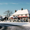 James King pub in winter