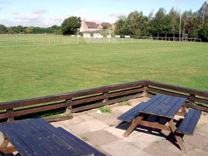 Finches Field football pitch and seating
