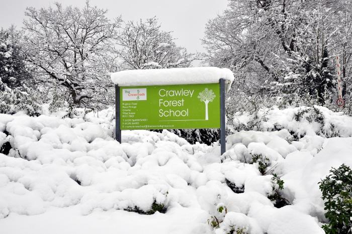Crawley Forest School sign