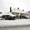 Black Swan pub, Pease Pottage, in winter 2010